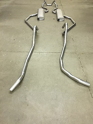 1958 CHEVY DUAL EXHAUST SYSTEM, ALUMINIZED, WITH 283 ENGINES