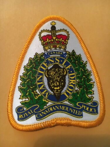 ROYAL CANADIAN MOUNTED POLICE MANITOBA PATCH SILK SCREENED