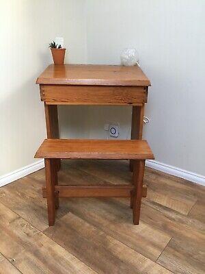 Vintage Childs Desk (handmade circa 1978) Pine.