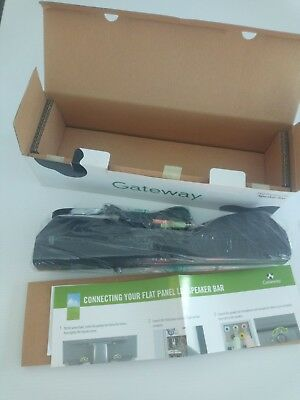 Gateway 2522547R MultiMedia USB Flat Panel LCD Monitor Speaker Bar System