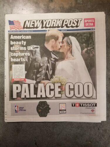 NEW YORK POST 5/20/18 Royal Wedding Palace Coo Texas School Shooter Yankees Mets