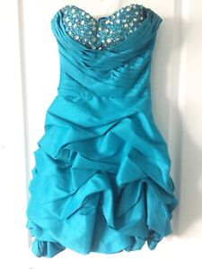 Blue Strapless Grad / Prom / Special Occasion Dress