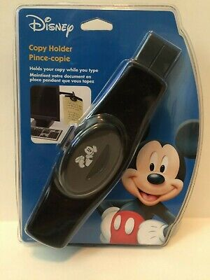 Disney Mickey Mouse Monitor Document Clip Mount Copy Holder With Adhesive Mount