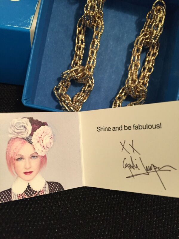Cyndi Lauper TOUCH OF CYN Gold Chain Earrings Home Shopping Network Jewelry