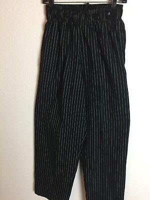 Womens Chef Works Pants Size S Blackwhite Stripe