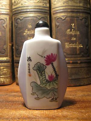 Chinesische Snuffbottle aus Keramik glasiert China