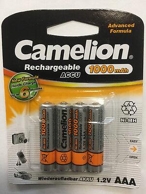4 x Camelion AAA NI-MH AKKU 1,2 V 1000 mAh für Gigaset A580 A585 Telefon Micro