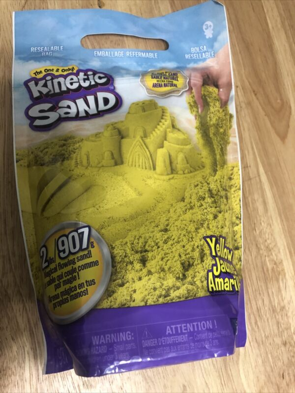 The One And Only Kinetic Sand Yellow Jaune Amarillo