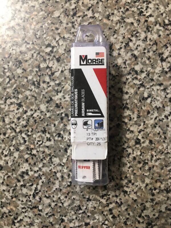 "MK Morse 4"" x 18tpi Bi-Metal Air Saw Blade RBA418T25 - Pack of 25 Blades"