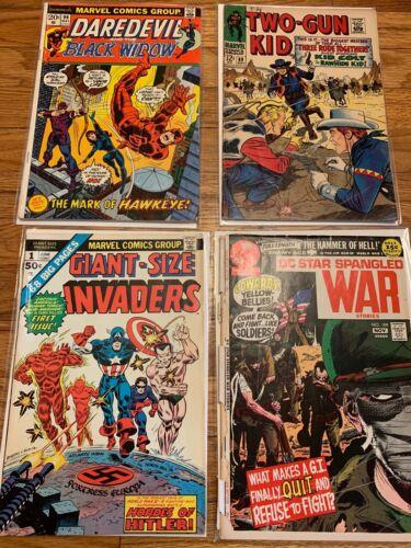 Silver Bronze Age x4 Comic Lot ~ Giant Size Invaders 1 Daredevil & Star Spangled