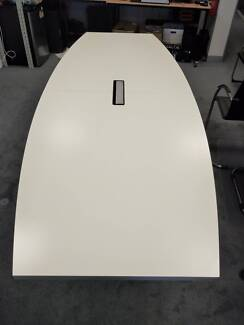 White stainless 3m board room table 10 Person,