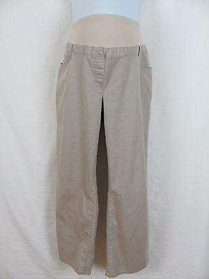 Me Maternity Cotton Blend Beige Pants sz LS (Short) 32 x 27