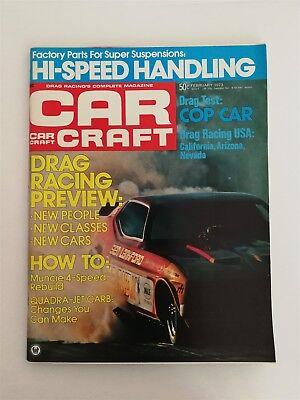 Car Craft Magazine February 1973 Drag Racing Preview - Police Car Test  No Label