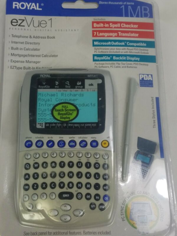 Royal ezVue1 Personal Digital Assistant 1Mb New and Sealed