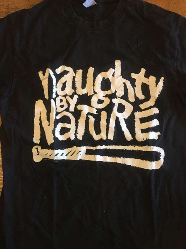 Vintage NAUGHTY BY NATURE 1991 OPP Shirt L Single Stitch Rap Tees
