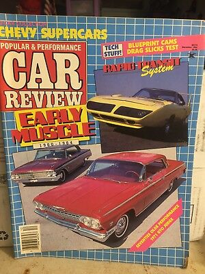 Popular and Performance CAR REVIEW Magazine - DECEMBER 1985 SAME DAY -
