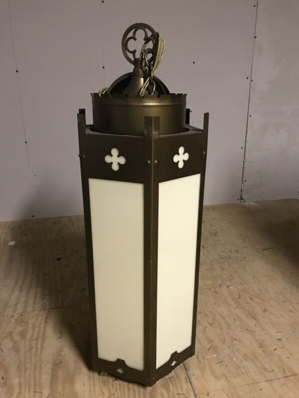 Vintage McFadden Church Ceiling Pendant Chandelier Light Lights Religious