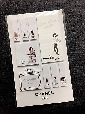 Rare Rare Authentic Chanel Sticker Post It Bookmark Tab Pad Sticky Notes Memo