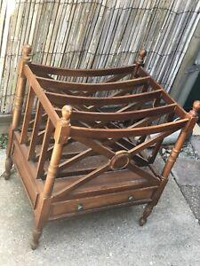 Antique vintage timber music Canterbury/magazine rack