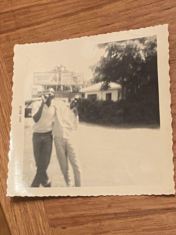 Vintage photo African American young men Smoking 1966 read description