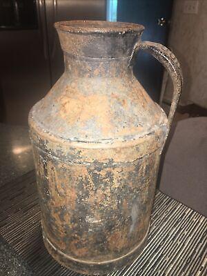 Vintage HOOD Metal Milk Jug