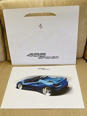 Ferrari 488 SPIDER. Official PRINT + PORTFOLIO CARD CARRY CASE.  FERRARI VGC