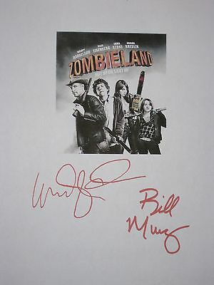Zombieland Signed Film Movie Script Screenplay Woody Harrelson Bill Murray repnt