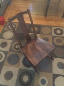 Antique Wood Rocking Chair for Youth/Light Person