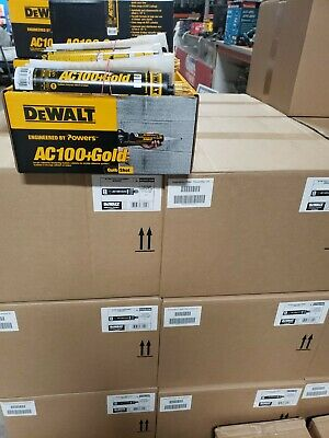 Dewalt Powers Ac100gold Acrylic Concrete Epoxy 8478sd Quickshot 10oz Caulk Gun