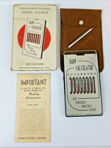 Vintage Baby Calculator, Manual, Faux Suede Case, Stylus & Original Outside Box