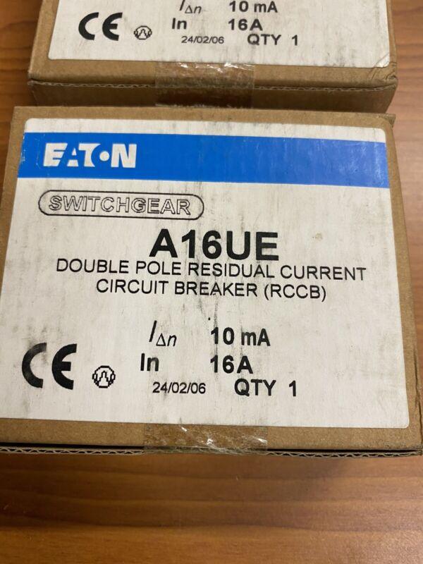 EATON A16UE DOUBLE POLE RESIDUAL CURRENT CIRCUIT BREAKER 16A 10MA 240V **NIB**