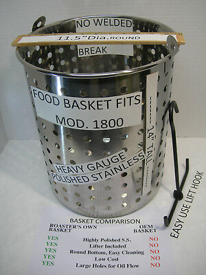 Food Basket Replacement Fits Broaster Model 1800 All Stainless Steel. W Lifter