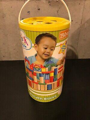 Wooden Blocks Set (Wooden Blocks Spark Create Imagine For Kids 150 Piece Block)