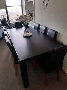 Large dark brown 8 seater dining table Edgecliff Eastern Suburbs Preview