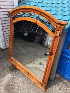 Framed wooden mirror