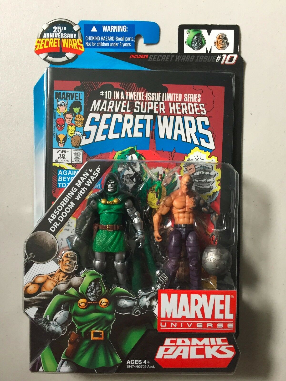 Marvel Universe 3 3/4 DOCTOR DOOM WASP ABSORBING MAN Action