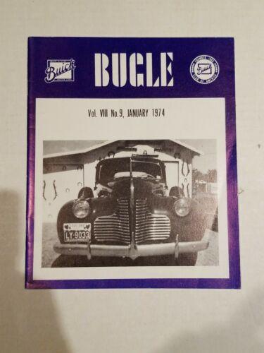THE BUICK BUGLE MAGAZINE JANUARY 1974  vol. 8  #9