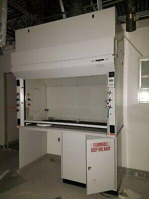 6ft Fisher Hamilton Lab Fume Hood Tel Afa1000 Air Flow Monitor Fire Cab Can Ship