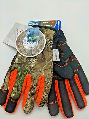 West Chester L Work Gloves High Vis Orangerealtree Camo Large W 3m Thinsulate