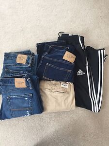 Boys jeans, khaki's and track pants
