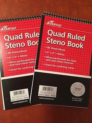 Quad Ruled Steno Pads
