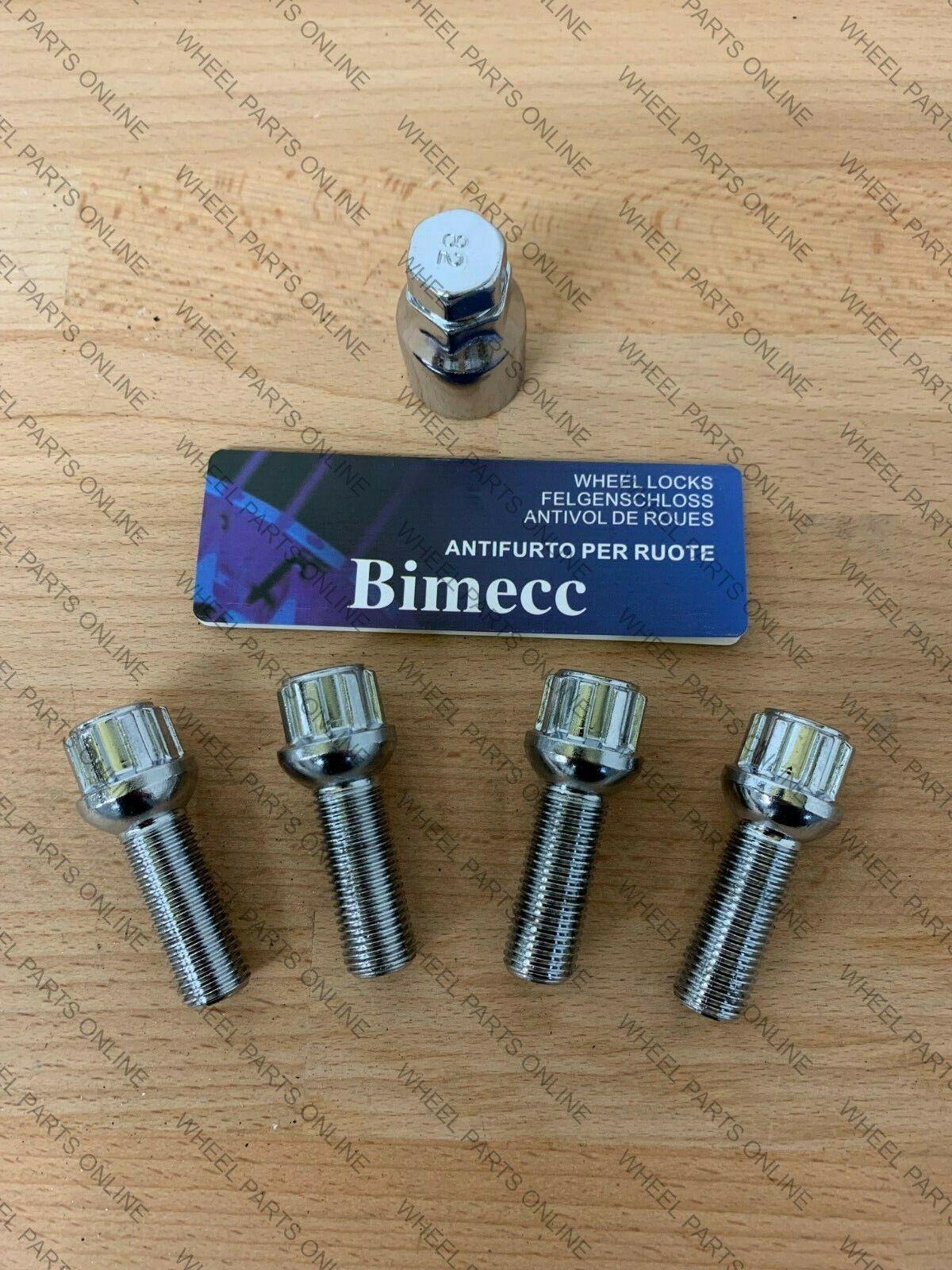 ALLOY WHEEL BOLTS M14X1.5 X 10 RADIUS BIMECC 40mm THREAD FOR AUDI A5 A6 A7 A8