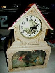 VNTG.HADDON ORIGINAL THE TEETER TOTTER ANIMATED &  LIGHT-UP CLOCK #15 LOOK