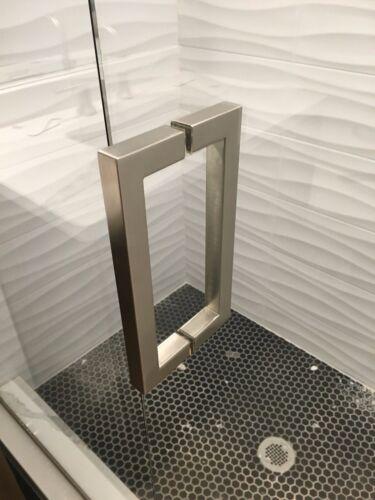 "Shower Door Handle - 8"" Square Style"