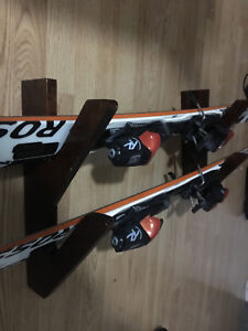 Ski wall mount -skis NOT included