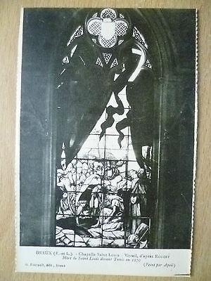 Postcard- DREUX, Chapelle Saint Louis-Vitrail, d'apres ROUGET