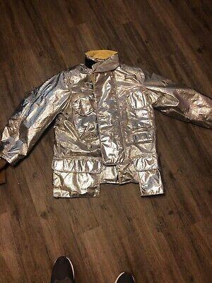 Janesville Lion Firefighter Proximity Jacket Size 42 X 32 R Aluminized Turnout