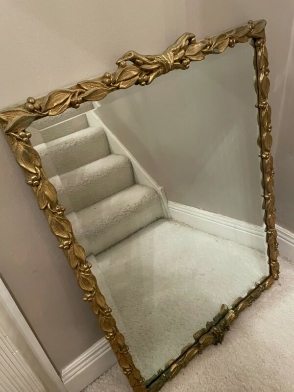 Carvers Guild Gold French Style Antique Wall Mirror