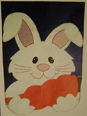 HOUSE Shaped Spring Bunny Rabbit, Easter, Translucent Ears appliqued HOUSE -