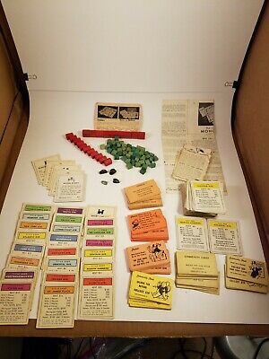 1930s Handbags and Purses Fashion Vintage 1930's Monopoly Game Parker Brothers Instruc,Cards,Hotels,Houses,Purse $38.00 AT vintagedancer.com
